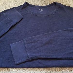Gap men's thermal, dark blue t